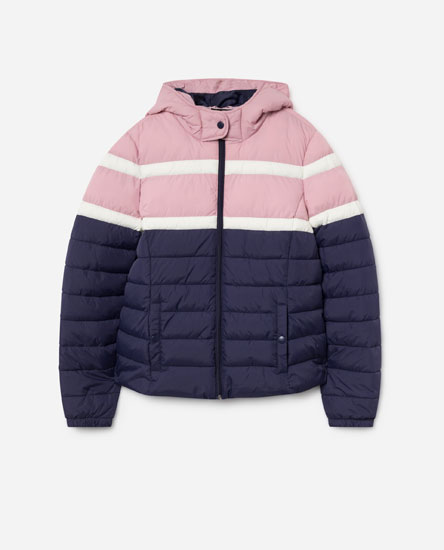 COLOURED PUFFER JACKET