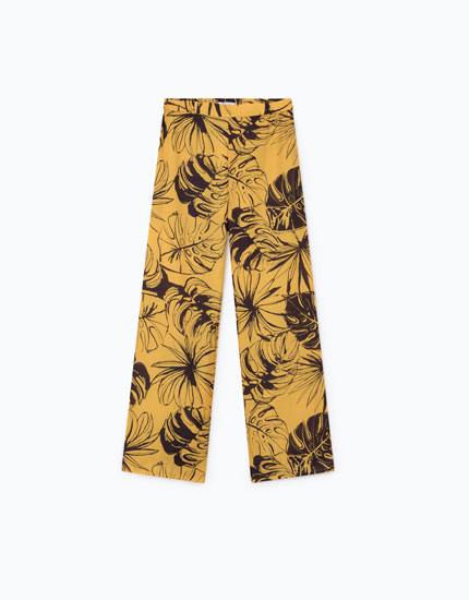 LEAF PRINT TROUSERS