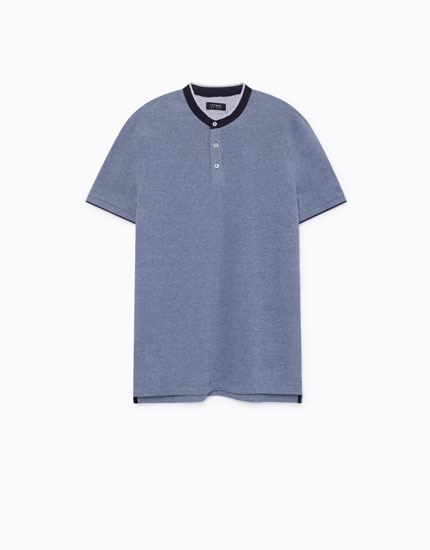 POLO SHIRT WITH STAND-UP COLLAR