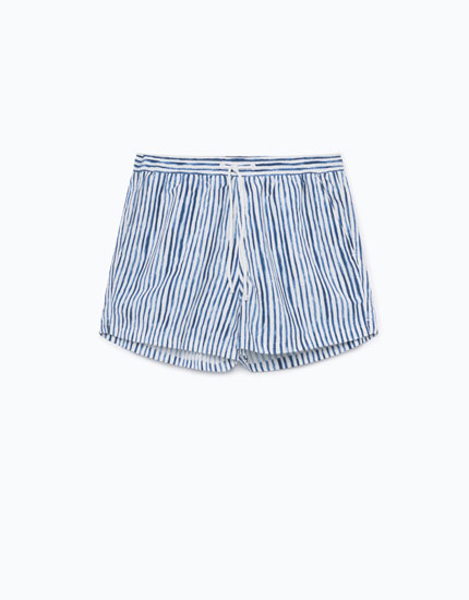 STRIPED SWIMMING TRUNKS