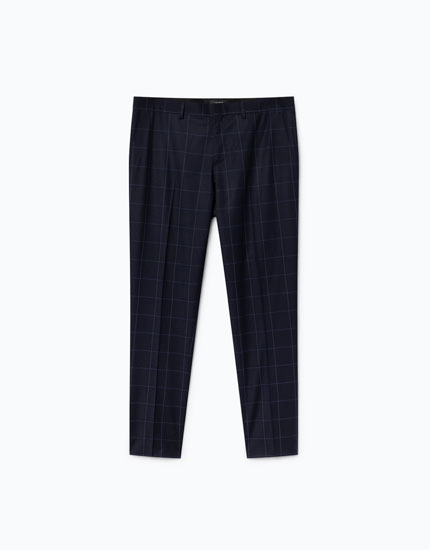 WINDOWPANE CHECK TROUSERS