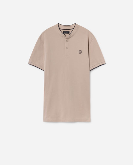 POLO SHIRT WITH EMBROIDERED DETAIL
