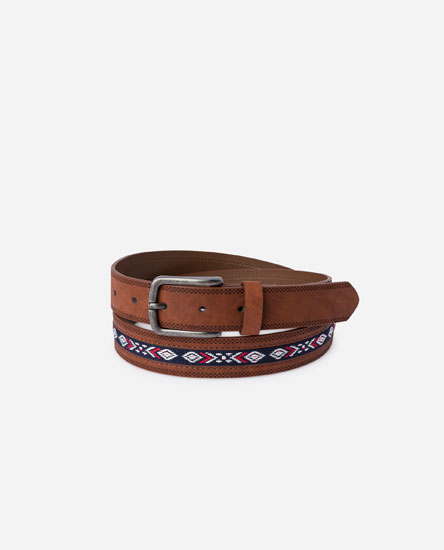 BELT WITH ETHNIC DETAIL
