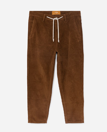 CORDUROY CARROT FIT TROUSERS