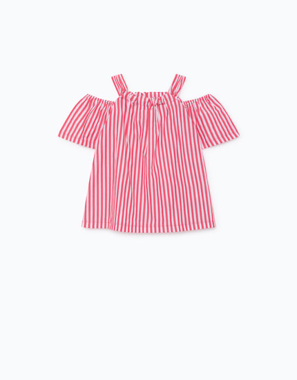 STRIPED POPLIN TOP