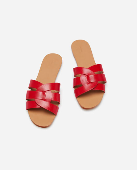 SANDALS WITH CRISS-CROSS UPPER