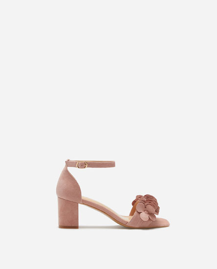 HIGH-HEEL SANDALS WITH ANKLE STRAP AND VAMP DETAIL