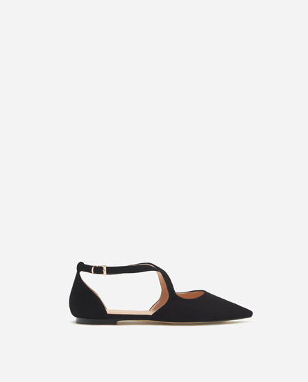 FLAT D'ORSAY SHOES WITH CROSSOVER STRAPS