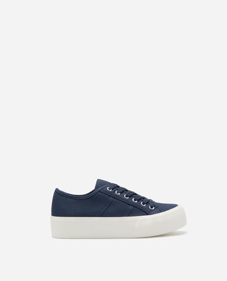 CHUNKY SOLE FABRIC PLIMSOLLS