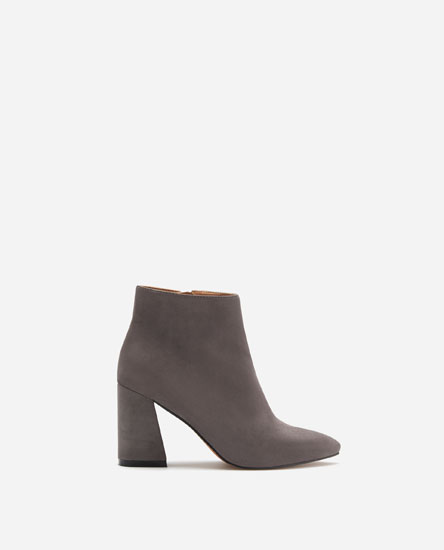 HIGH-HEEL POINTED ANKLE BOOTS