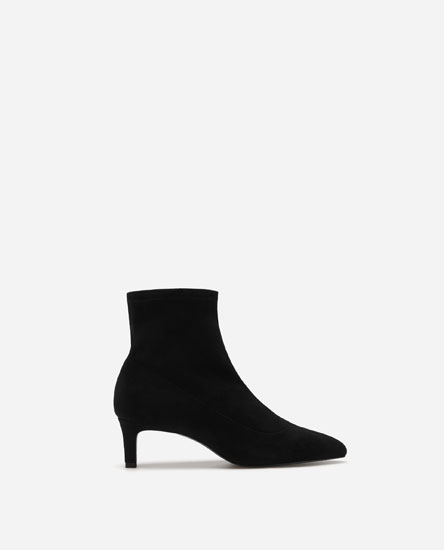 HIGH HEEL SOCK-STYLE ANKLE BOOTS