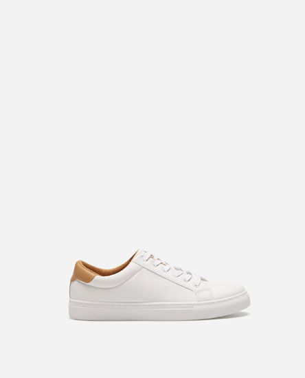 PLIMSOLLS WITH HEEL DETAIL
