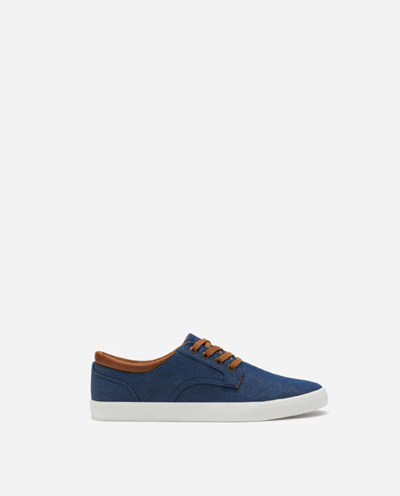 DERBY PLIMSOLLS WITH ANKLE TRIM