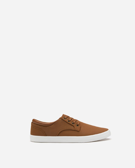 DERBY PLIMSOLLS WITH ANKLE TRIM DETAIL