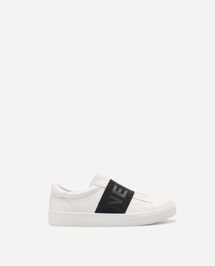LETTERS PLIMSOLLS WITH ELASTIC PANELS