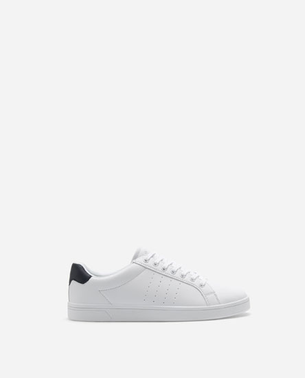 PLIMSOLLS WITH BLUE HEEL