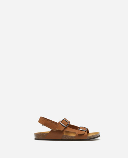 LEATHER BIO SANDALS WITH BUCKLES
