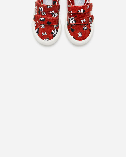 FAUX PATENT LEATHER MINNIE PLIMSOLLS