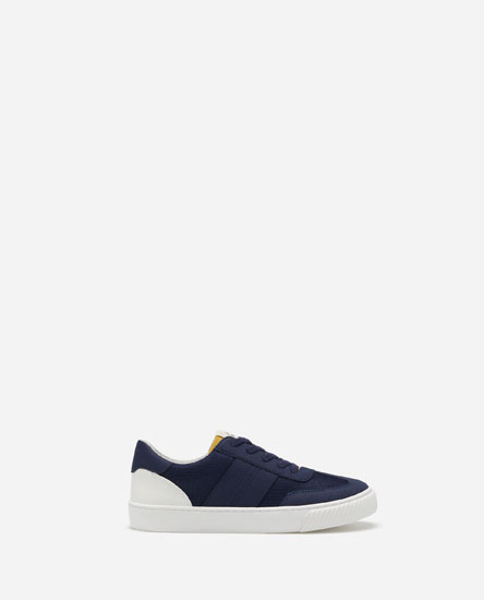 PLIMSOLLS WITH BLUE TOECAPS
