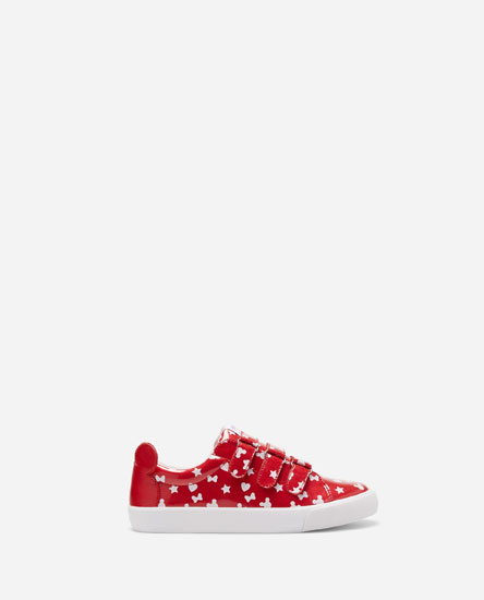 MINNIE MOUSE PLIMSOLLS WITH HOOK AND LOOP STRAPS