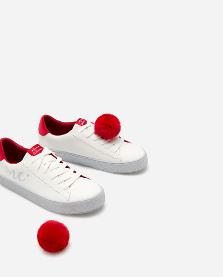 PLIMSOLLS WITH GLITTER SOLES