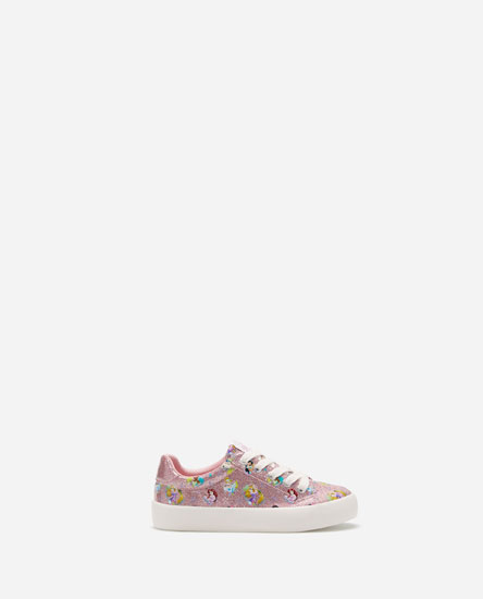 GLITTERY PLIMSOLLS WITH PRINCESS DETAILS