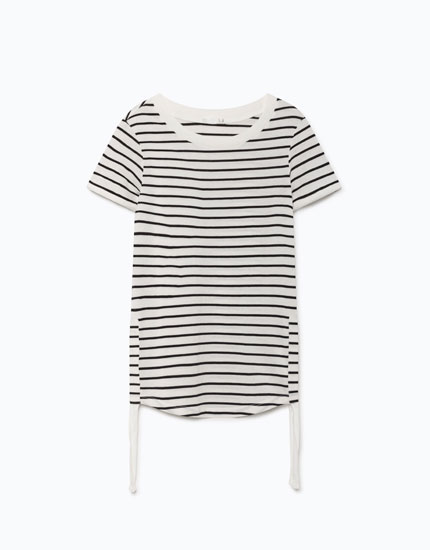 RUCHED SIDES T-SHIRT