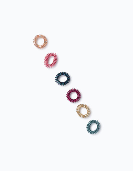 PACK OF SPIRAL HAIR TIES