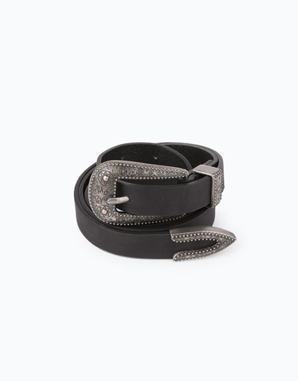BELT WITH EMBELLISHED BUCKLE