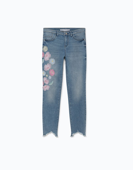 JEANS SUPER SKINNY BORDADOS