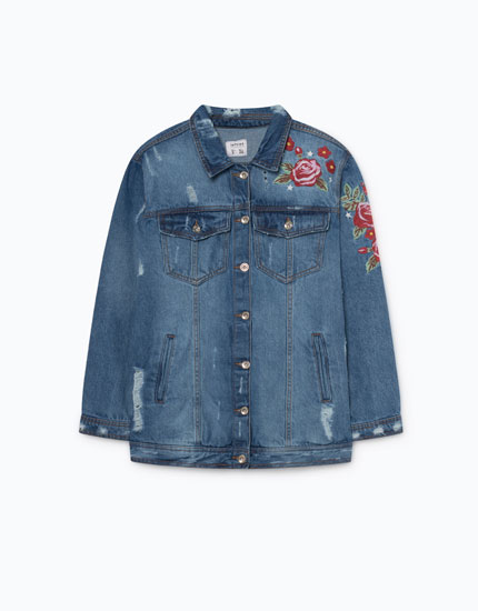 OVERSIZED JACKET WITH EMBROIDERY