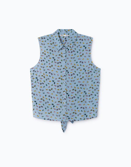 SHIRT WITH BACK KNOT