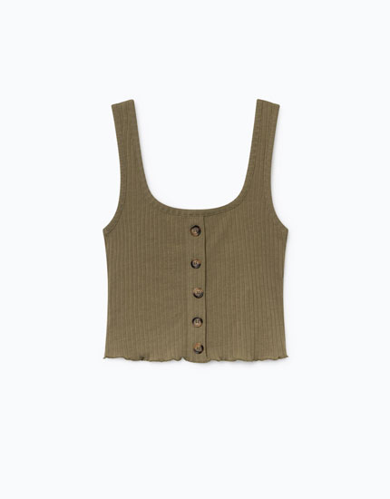 TANK TOP WITH BUTTONS