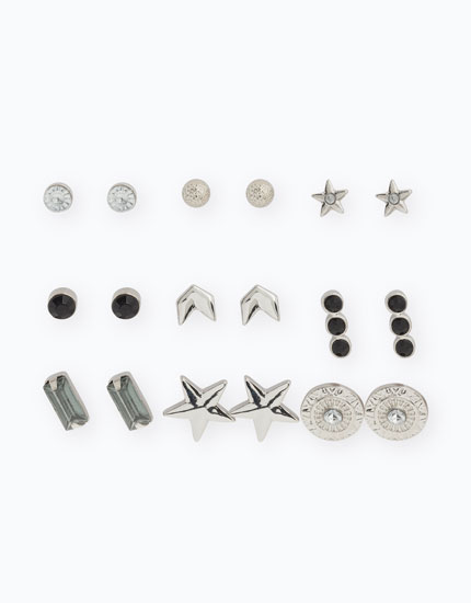 PACK OF SHAPED EARRINGS