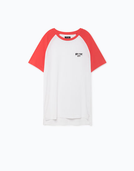 T-SHIRT WITH COLOURED SLEEVES