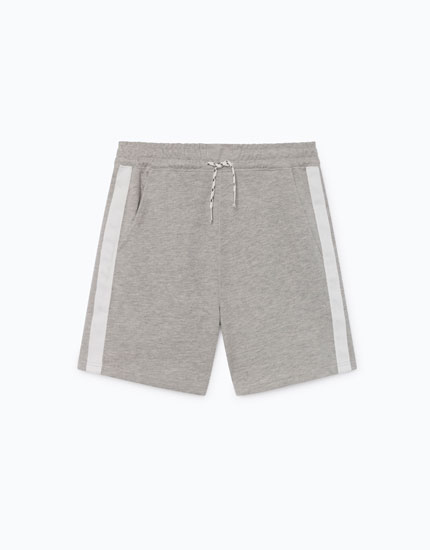BERMUDA SHORTS WITH SIDE STRIPES