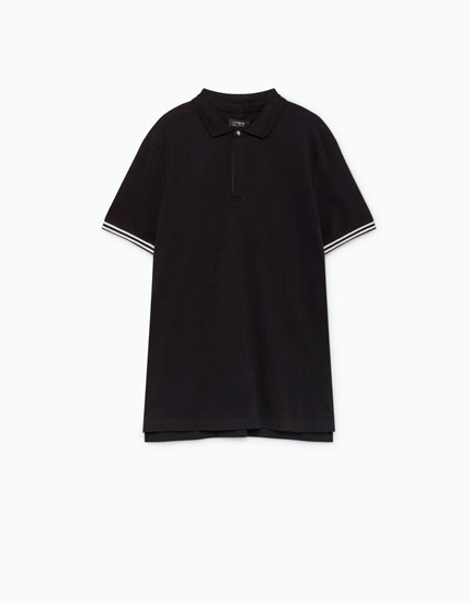ZIPPED POLO SHIRT