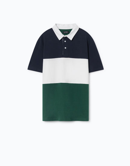 COLOURFUL BANDS POLO SHIRT