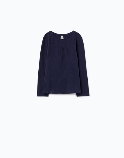 SWISS EMBROIDERED T-SHIRT