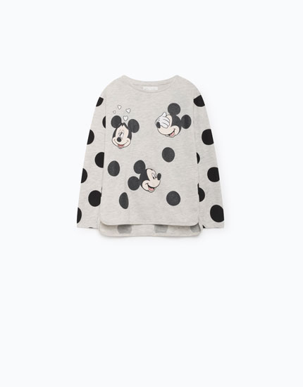 MICKEY MOUSE T-SHIRT WITH POLKA DOTS
