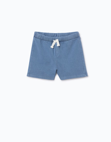 FADED-EFFECT BERMUDA SHORTS