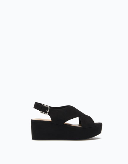 BLOCK HEEL LINED PLATFORM WEDGES - SUPER PRICE