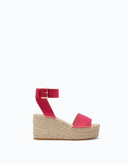 HIGH HEEL CRISS-CROSS JUTE WEDGES