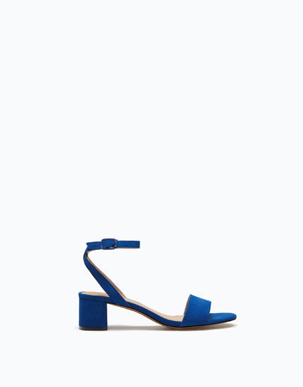 MID-HEEL SANDALS WITH BASIC UPPER