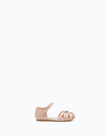 D'ORSAY SHOES WITH STRAPS AND BUCKLE