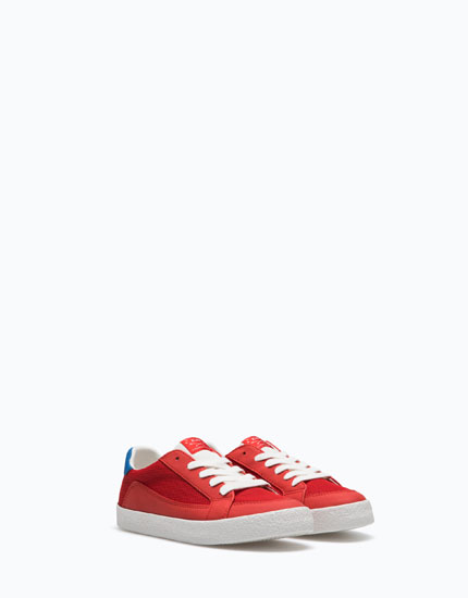 RED RETRO PLIMSOLLS