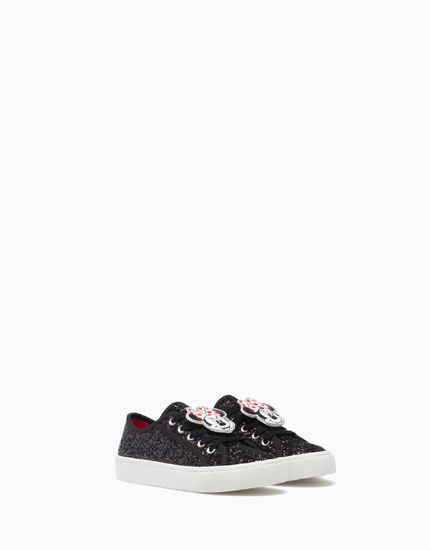 GLITTERY MINNIE MOUSE PLIMSOLLS