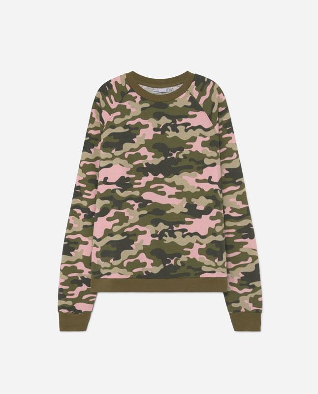 5c5982d13f9c1c Lefties - sudadera estampado camuflaje - rosa sucio - 05053345-I2019