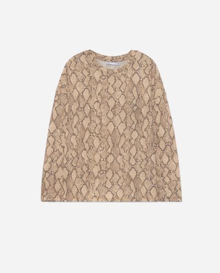 Camiseta melange animal print