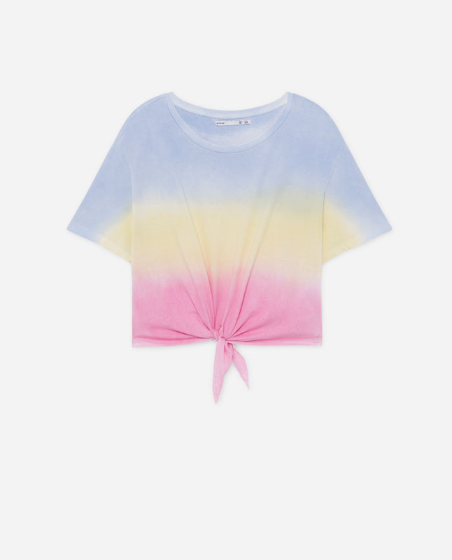 83ef9f9b TIE-DYE T-SHIRT WITH KNOT - T-shirts and tops - COLLECTION - WOMEN ...